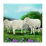 BORDER COLLIE SHEEP Tile Coaster #3