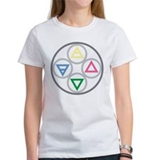 Earth Water Air Fire Elemental Mandala Tee