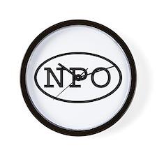 NPO Oval Wall Clock