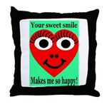 Sweet Smile Throw Pillow