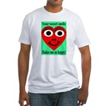 Sweet Smile Fitted T-Shirt