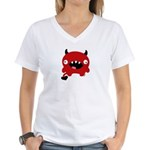 Fluffel Love Devil! Women's V-Neck T-Shirt