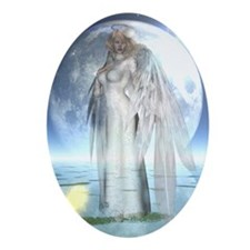 Moon Angel Keepsake (Oval)