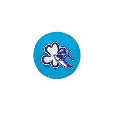 Girl Surfing from Flower Mini Button (10 pack)
