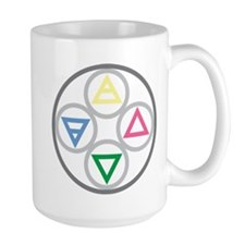 Elemental Mandala: Earth Water Air Fire Mug