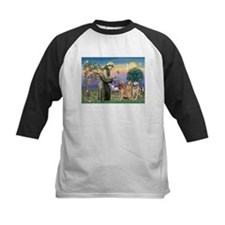 St Francis / Golden Retriever (3) Tee