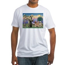 St Francis / Golden Retriever (3) Shirt