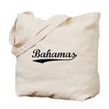 Vintage Bahamas (Black) Tote Bag