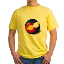 Baseball Colorado Flag T