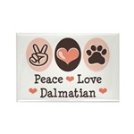 Peace Love Dalmatian Rectangle Magnet