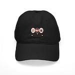 Peace Love Dalmatian Black Cap