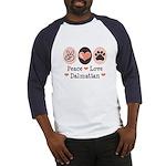 Peace Love Dalmatian Baseball Jersey
