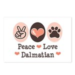 Peace Love Dalmatian Postcards (Package of 8)
