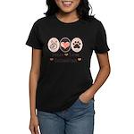 Peace Love Dalmatian Women's Dark T-Shirt