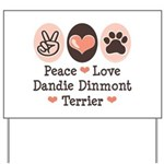 Peace Love Dandie Terrier Yard Sign
