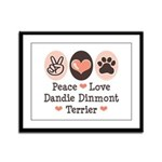 Peace Love Dandie Terrier Framed Panel Print