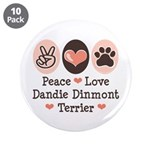 Peace Love Dandie Terrier 3.5
