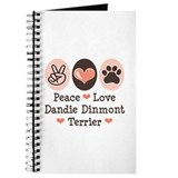 Peace Love Dandie Terrier Journal