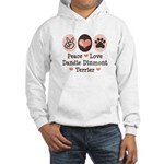 Peace Love Dandie Terrier Hooded Sweatshirt