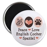"Peace Love English Cocker Spaniel 2.25"" Magne"