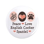 Peace Love English Cocker Spaniel 3.5
