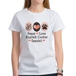 Peace Love English Cocker Spaniel Women's T-Shirt