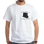 Top Hat Bride's Best Friend White T-Shirt