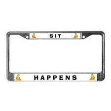 Sit Happens #4 License Plate Frame