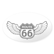 Winged 66 Oval Decal
