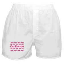 Pink Cat Person Boxer Shorts