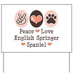 Peace Love Springer Spaniel Yard Sign