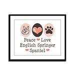 Peace Love Springer Spaniel Framed Panel Print
