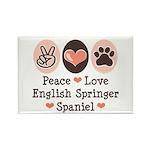Peace Love Springer Spaniel Rectangle Magnet