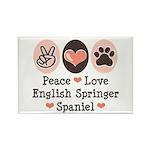 Peace Love Springer Spaniel Rectangle Magnet (10 p