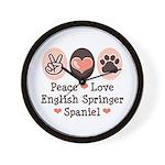 Peace Love Springer Spaniel Wall Clock