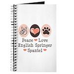 Peace Love Springer Spaniel Journal