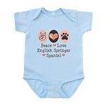 Peace Love Springer Spaniel Infant Bodysuit