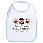 Peace Love Springer Spaniel Bib