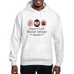 Peace Love Springer Spaniel Hooded Sweatshirt