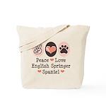 Peace Love Springer Spaniel Tote Bag