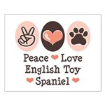Peace Love Toy Spaniel Small Poster