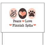 Peace Love Finnish Spitz Yard Sign