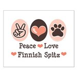 Peace Love Finnish Spitz Small Poster