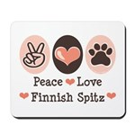 Peace Love Finnish Spitz Mousepad