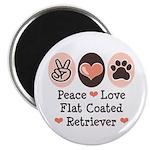 Peace Love Flatcoat Magnet