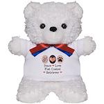 Peace Love Flatcoat Teddy Bear