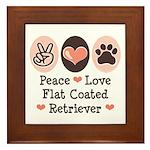 Peace Love Flatcoat Framed Tile