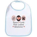 Peace Love Flatcoat Bib