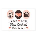Peace Love Flatcoat Postcards (Package of 8)