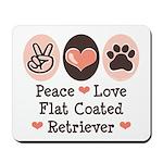 Peace Love Flatcoat Mousepad